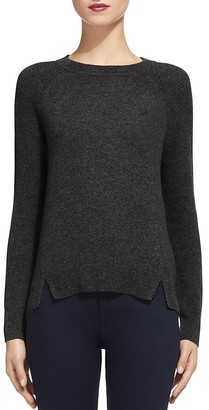 Whistles Notched Hem Cashmere Sweater $300 thestylecure.com