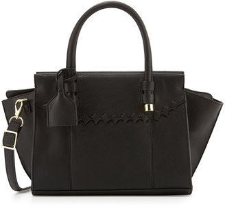 Danielle Nicole Juniper Faux-Leather Satchel Bag, Black $75 thestylecure.com