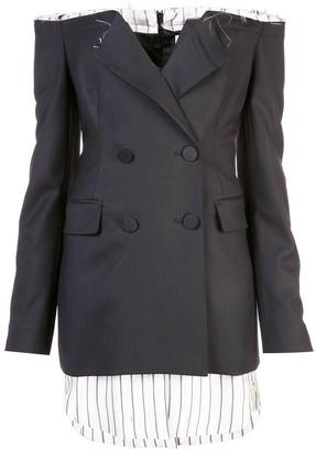 Monse off-shoulder blazer dress