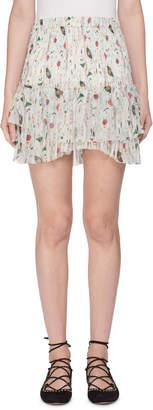 Etoile Isabel Marant Earley Elastic-Waist Printed Silk Chiffon Skirt
