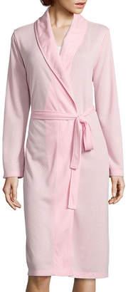 Adonna Pointelle Shawl Collar Wrap Robe