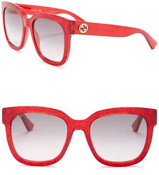 Gucci Glitter 54mm Sunglasses