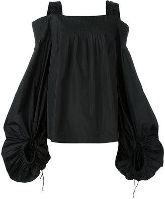 embellished strap blouse