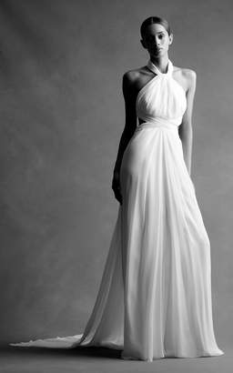 Brandon Maxwell Bridal M'O Exclusive: Chiffon Cross Back Gown