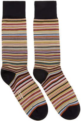 4803eb7b79fa6f Paul Smith Three-Pack Multicolor Striped Socks
