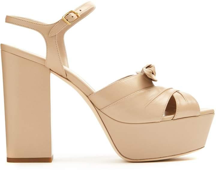 SAINT LAURENT Farrah leather platform sandals