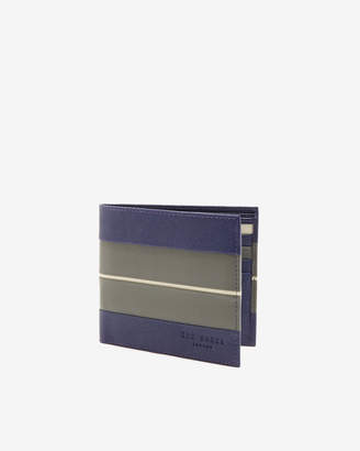Ted Baker BAKED Striped bi-fold leather wallet