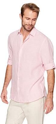 Isle Bay Linens Men's Standard-Fit 100% Linen Long-Sleeve Woven Shirt