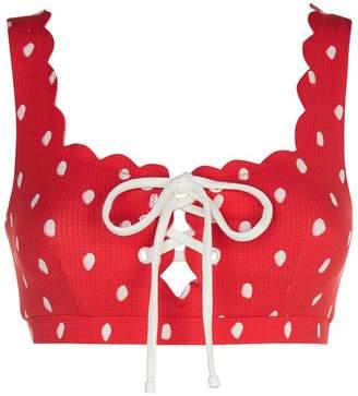 Marysia Swim Palm Springs Tie Front Bikini Top