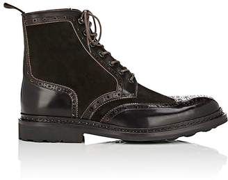 Heschung Men's Dublin Suede & Leather Wingtip Boots