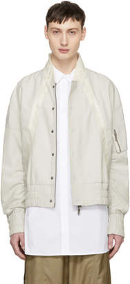 D.gnak By Kang.d White X-String Bomber Jacket