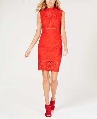 Bardot Illusion Lace Dress