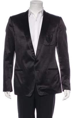 Dolce & Gabbana Satin Crest Logo Blazer
