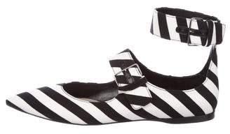 Miu Miu Striped Pointed-Toe Flats w/ Tags