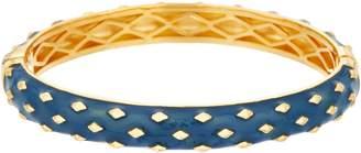 Heritage Jewelry Collection Heritage Jewelry Diamond Pattern Hinged Enamel Bracelet