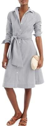 J.Crew Maribou Stripe Cotton Shirtdress