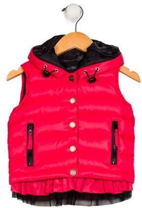 Blumarine Girls' Hooded Down Vest
