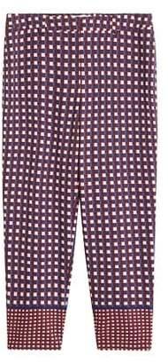 Violeta BY MANGO Flowy checked trousers