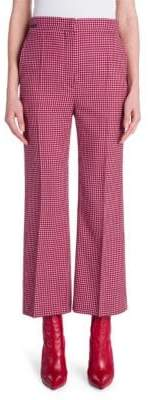Fendi Cropped Check Flare Trousers