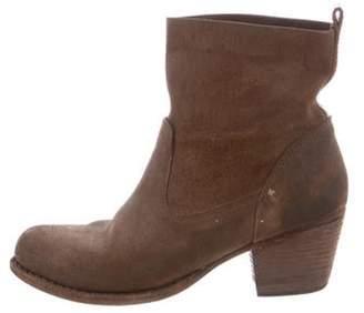 Rag & Bone Nubuck Round-Toe Ankle Boots Brown Nubuck Round-Toe Ankle Boots