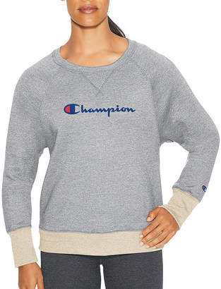 Champion Fleece Crew Graphic Long Sleeve Sweatshirt