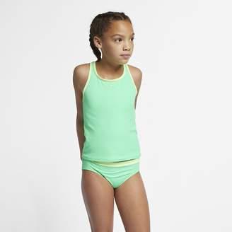 Nike Big Kids' (Girls') Two-Piece Swimsuit Core Solid Racerback Tankini