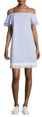 Striped Off-The-Shoulder Dress $168 thestylecure.com