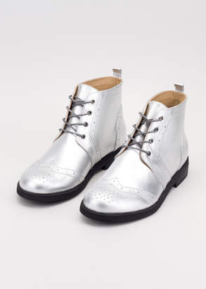 WildFang Fortress Of Inca The Ultimate WF Silver Wingtip Boot - The Ultimate WF Silver Wingtip Boot - SILVER - 10