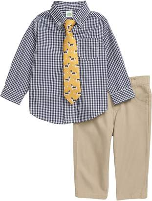 Little Me Mini Check Shirt & Pants Set