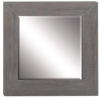 DecMode Decmode 33 X 2 Inch Contemporary Square Wooden Gray Wall Mirror, Gray