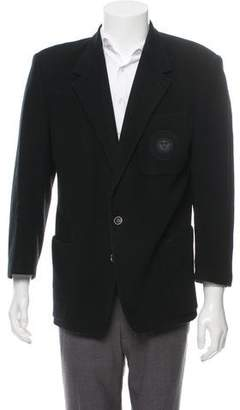 Versace Patch-Accented Wool Two-Button Jacket