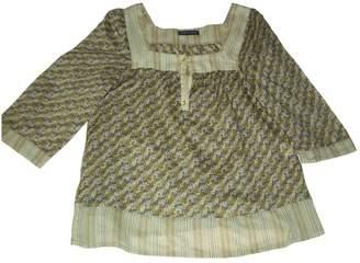 Aridza Bross Green Cotton Top for Women
