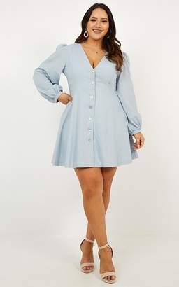 fbd74e23191c Showpo Secrets She Keeps dress in baby blue linen look Casual Dresses