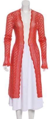 Magaschoni Crochet Long Sleeve Cardigan
