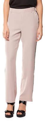 Dex Two-Tone Straight-Leg Pants