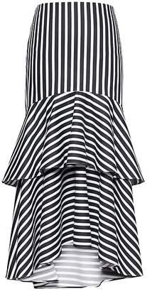 Banana Republic Petite Super-Stretch High-Low Midi Skirt