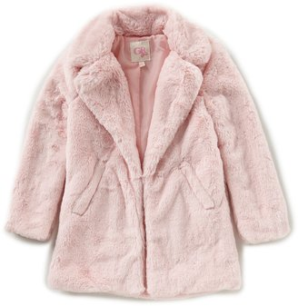GB Girls Big Girls 7-16 Faux-Fur Plush Coat