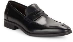 Black & Brown Black Brown Cortez Leather Penny Loafer