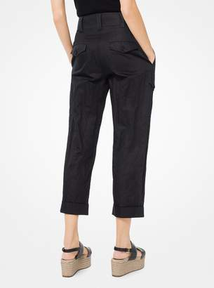 Michael Kors Crushed Cotton Cargo Pants