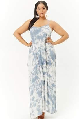 Forever 21 Plus Size Boho Me Tie-Dye Maxi Dress