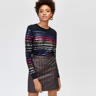 Warehouse Sequin Stripe Jumper