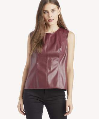 Sole Society S/L Knit Pleather Shell