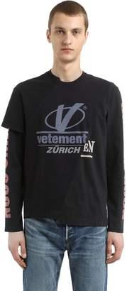 Vetements Patchwork Jersey Long Sleeve T-Shirt