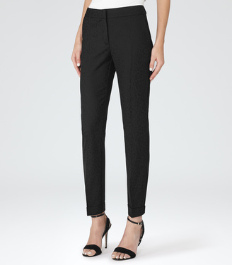 Dravite LEOPARD TAILORED TROUSERS $195 thestylecure.com