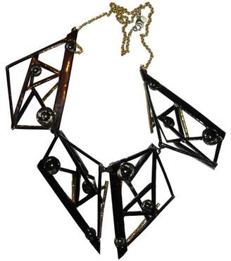 Alexis Bittar 18K Yellow Gold & Black Rhodium Plated Metal Abstract Bib Necklace