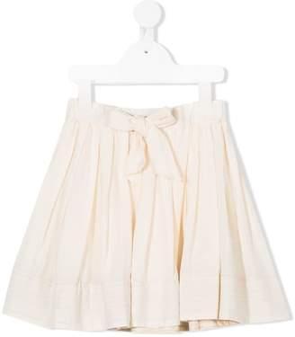 Bellerose Kids bow front pleated skirt