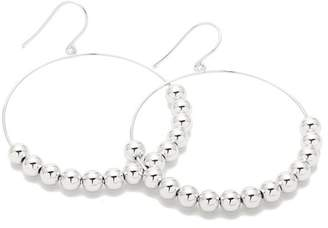 Gorjana Newport Silver Plated Beaded Hoop Drop Earrings