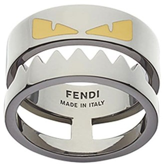 Fendi enameled Bag Bugs ring
