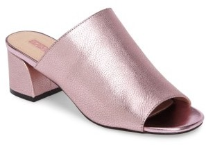 Women's Topshop Notorious Metallic Slide Sandal $75 thestylecure.com