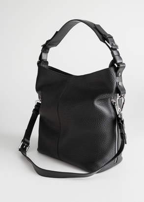 Grain Leather Hobo Bag